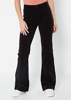 YMI Black Corduroy Flare Pants
