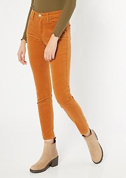 YMI Mustard Corduroy Skinny Jeans