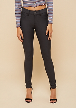 YMI Wanna Betta Butt Charcoal Gray Knit Skinny Pants