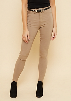 YMI Taupe High Waisted Slimming Skinny Jeans