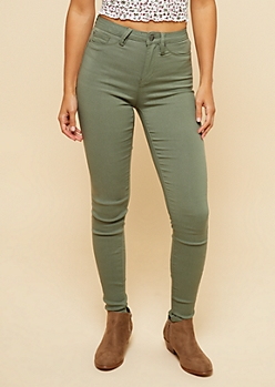 YMI Olive High Waisted Slimming Skinny Jeans