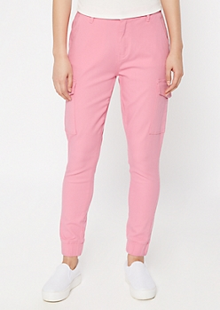 Pink Cargo Joggers