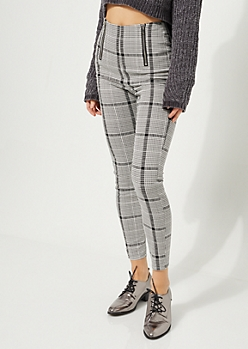 Houndstooth High Rise Pant