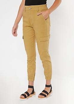 Khaki Utility Pocket Skinny Cargo Pants