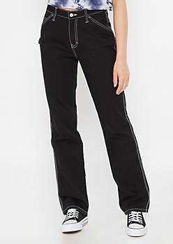 Dickies Black Utility Straight Leg Pants