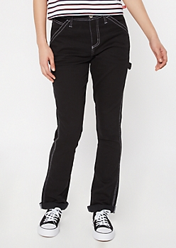 Dickies Flex Black Utility Straight Leg Pants