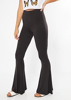 Black Super Soft Flare Pants