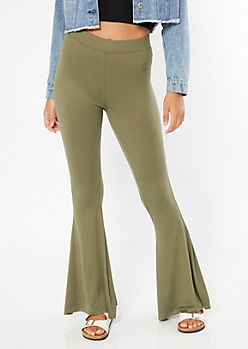 Olive Super Soft Flare Pants