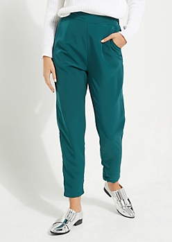 Green Woven Tapered Pants