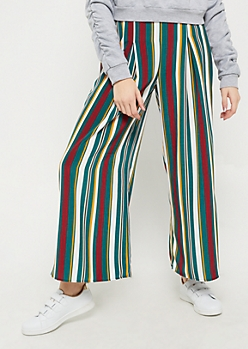 Striped Woven Palazzo Pants