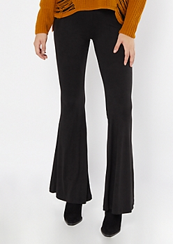 Black Super Soft Flare Pants