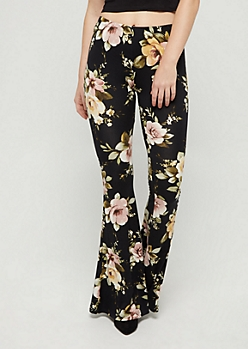 Blossoming Flared Soft Pants