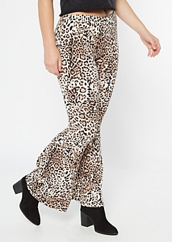 Leopard Print Super Soft Flare Pants