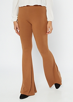 Brown Super Soft Flare Pants