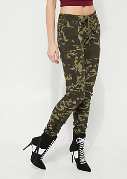 Camo Moto Ruched Jeggings