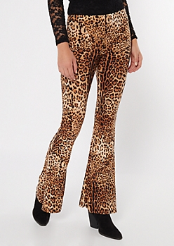 Cheetah Print Super Soft Flare Pants