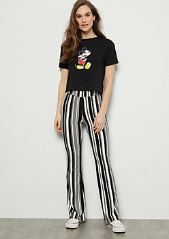 Black Striped Super Soft Festival Flare Pants