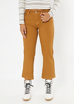 Camel Kick Flare Cropped Pants