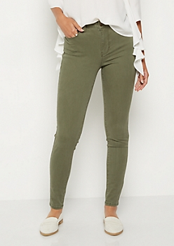 Olive High Waisted Jeggings