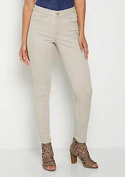 Khaki Soft High Rise Jegging