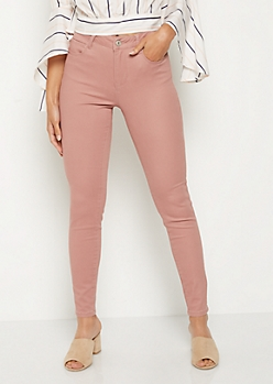 Dusty Pink High Waisted Jeggings