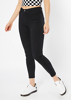 Black High Waisted Skinny Booty Jeans