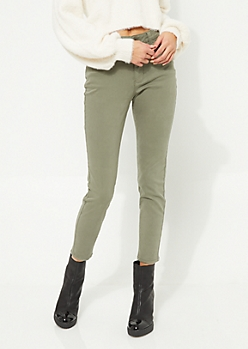 Olive High Waisted Soft Jeggings