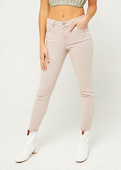 Light Pink High Waisted Jeggings