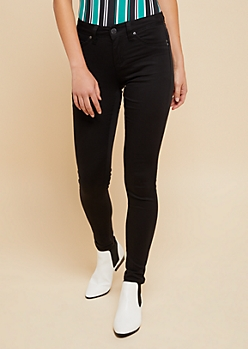 YMI Wanna Betta Butt Black Mid Rise Skinny Jeans