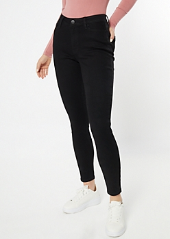 Ultra Stretch Black High Rise Jeggings in Short