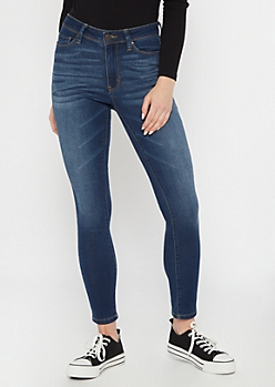Ultra Stretch Dark Wash High Rise Jeggings in Regular