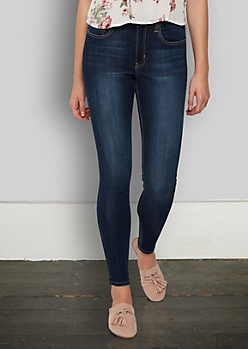 Dark Wash High Waisted Essential Jeggings in Regular