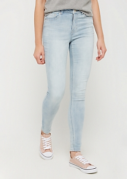 Light Wash High Waisted Jeggings in Tall