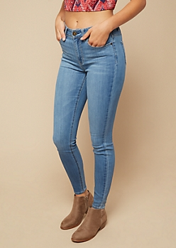 Medium Wash High Waisted Jeggings in Regular