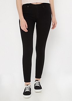 Ultra Stretch Black Mid Rise Jeggings in Regular