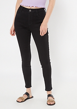 Ultimate Stretch Black High Waisted Jeggings in Short