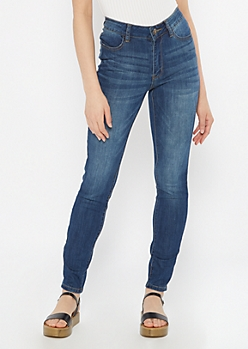 Dark Wash High Waisted Jeggings in Regular