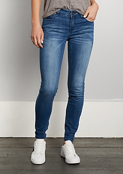 Medium Blue Mid Rise Jegging in Regular