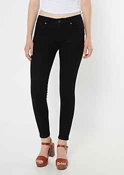 Black Wash High Waisted Booty Jeggings