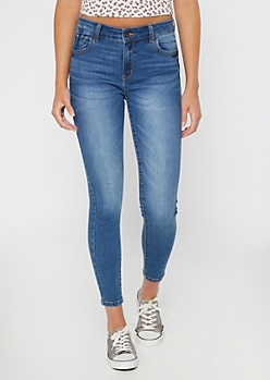 Medium Wash High Waisted Booty Jeggings