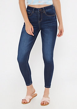 Dark Wash High Waisted Booty Jeggings