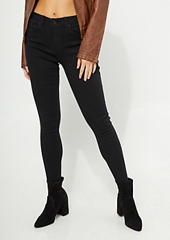 Black Extra High Waisted Jeggings
