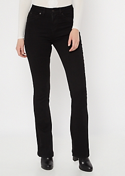 YMI Luxe Lift Black High Waisted Flare Jeans