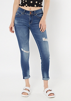 YMI Wanna Betta Butt Dark Wash Recycled Ankle Jeans