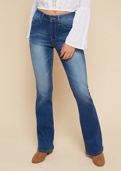 YMI Wanna Betta Butt Luxe Medium Wash Flared Jeans