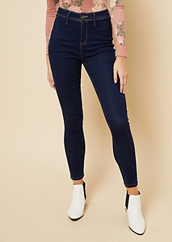 YMI Wanna Betta Butt Luxe Dark Wash High Waisted Jeans