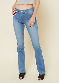 YMI Wanna Betta Butt Light Wash Boot Cut Jeans