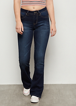 YMI Dark Wash Luxe Lift Flare Jeans