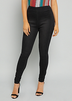 YMI Black High Waisted Seamless Shaping Jeans