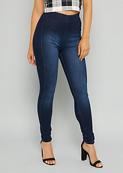 YMI Dark Wash High Waisted Seamless Shaping Jeans